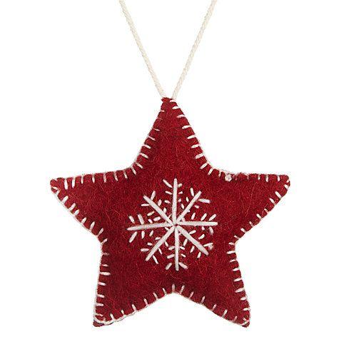 Buy Fiona Walker Snowflake Star Decoration, Red Online at johnlewis.com