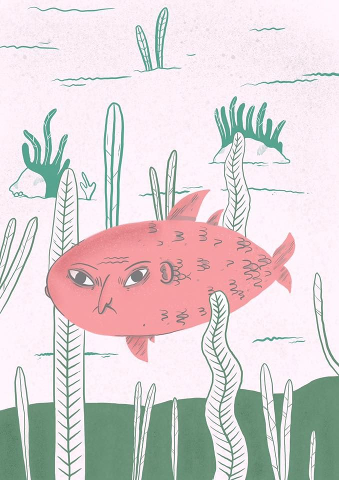 Hateful Fish / Illustration 2016 / Karolina Syta