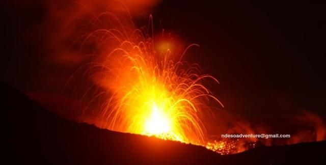 Strombolian Eruption of Mount Slamet on Aug 26,2014, Mount Slamet or Gunung Slamet is an active stratovolcano in the Purbalingga Regency of Central Java, Indonesia with elevation 3428m