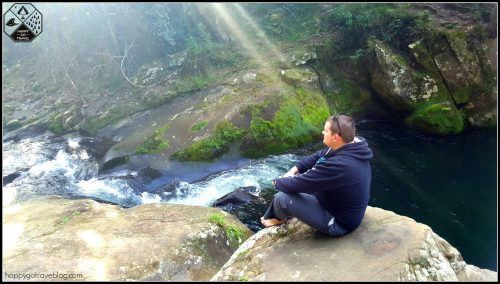 Ladies Well Chichester State Forest | Barrington Tops | man sitting and watching waterfalls