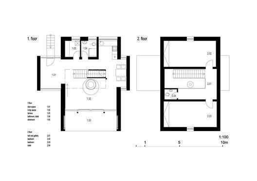Stribrna Skalice House,floor plan