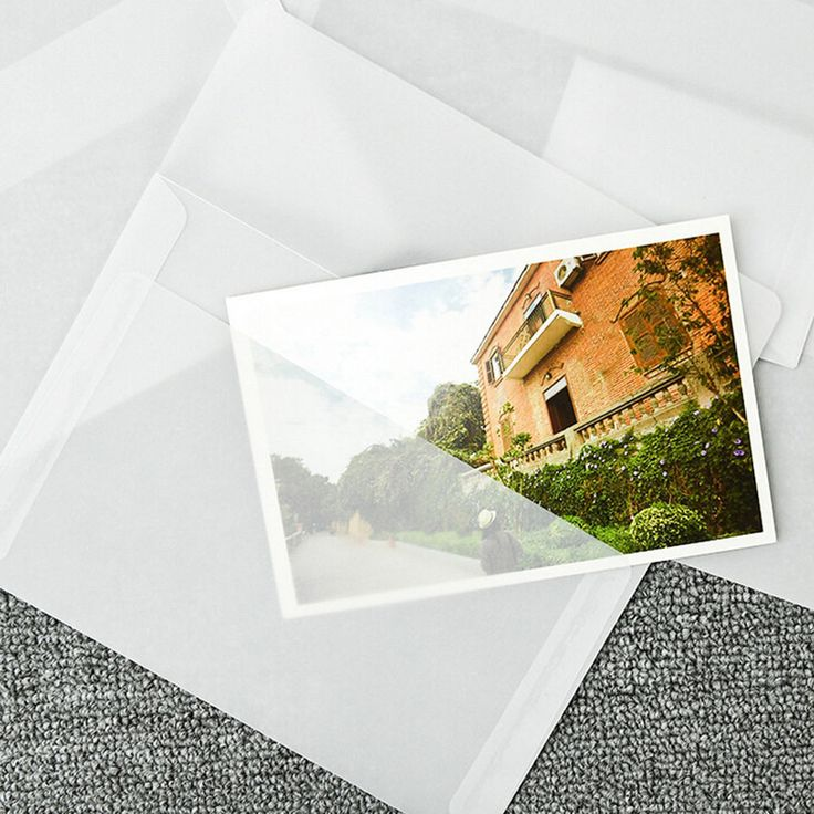 5XTranslucent Sulfur Paper Envelope Message Card Letter Stationary Storage Gift. #Unbranded