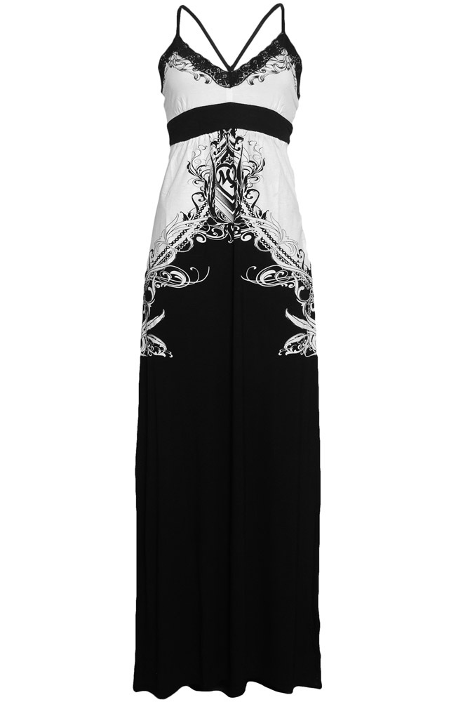 Really pretty design for a hardcore product - Metal Mulisha Breakup Maxi Dress