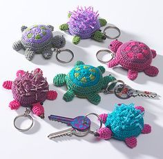 Animal crochet key ring