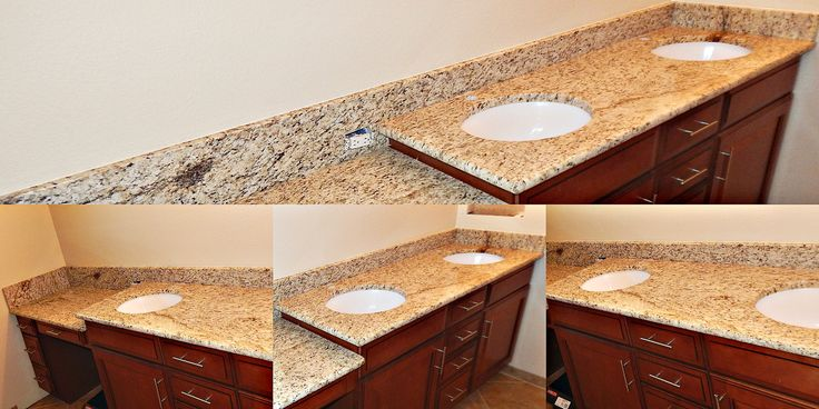 Giallo santo granite countertop remodel with half moon for 1 inch granite countertops