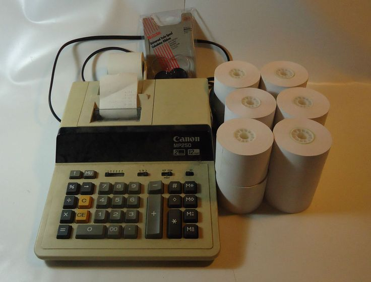 Canon Adding Machine Mp25d 2 Color 12 Digit With 7paper