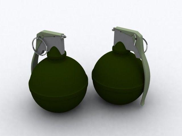 M67 Grenade 3Ds - 3D Model