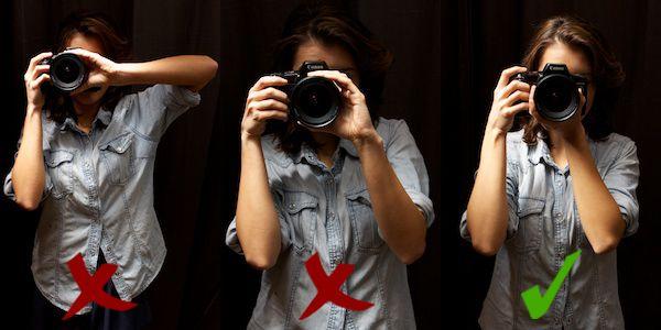 Wie halte ich meine Kamera richtig? Mit diesen Tipps werden deine Bilder viel schärfer!  #fotografie #tipps #kamera