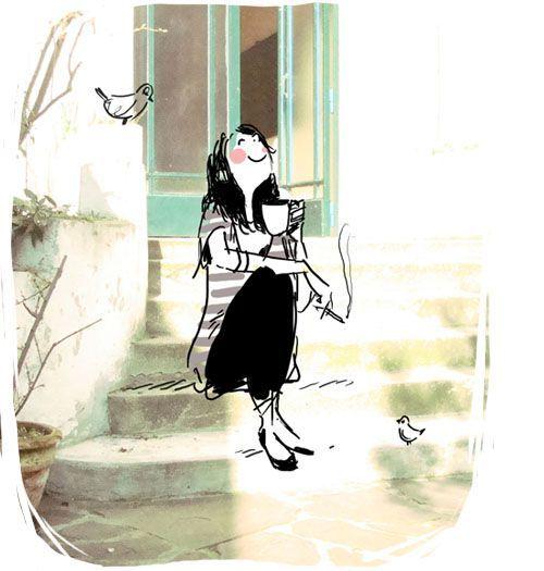 Ilustraciones originales typical frenchy...                      Besos y feliz martes!!!