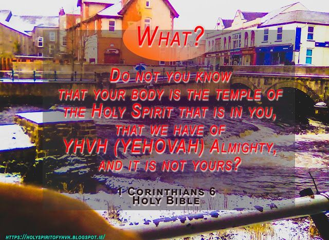 "Holy Spirit: ""The temple of Holy YHVH's Spirit"""