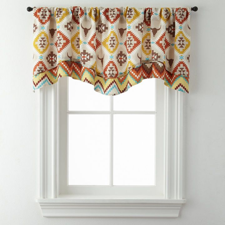 Love this super cute southwestern valance