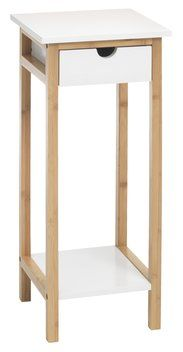Kukkapöytä BROBY bambu/valkoinen | JYSK