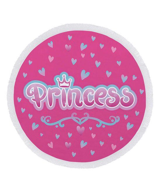 'Princess' Round Kids Beach Towel