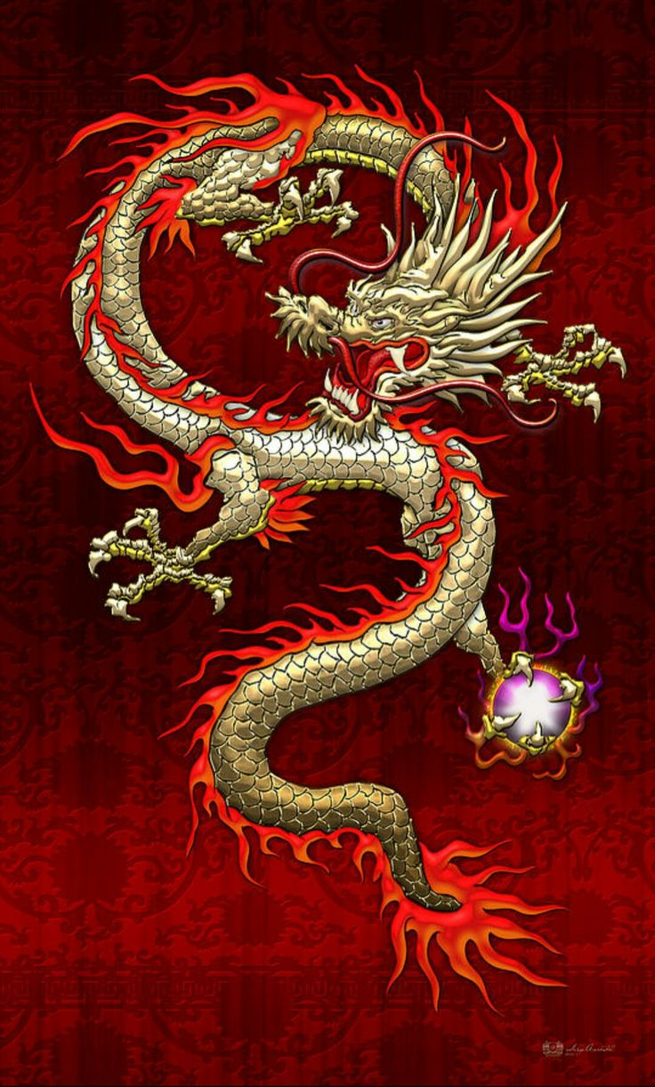 Chinese Dragon Art.
