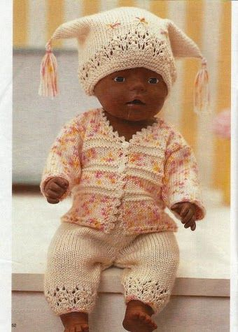 knitted outfit for Baby Born doll