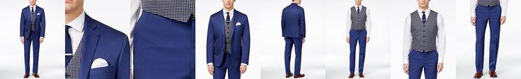 Ryan Seacrest Distinction Men's Slim-Fit Blue Suit Separates, Only at Macy's
