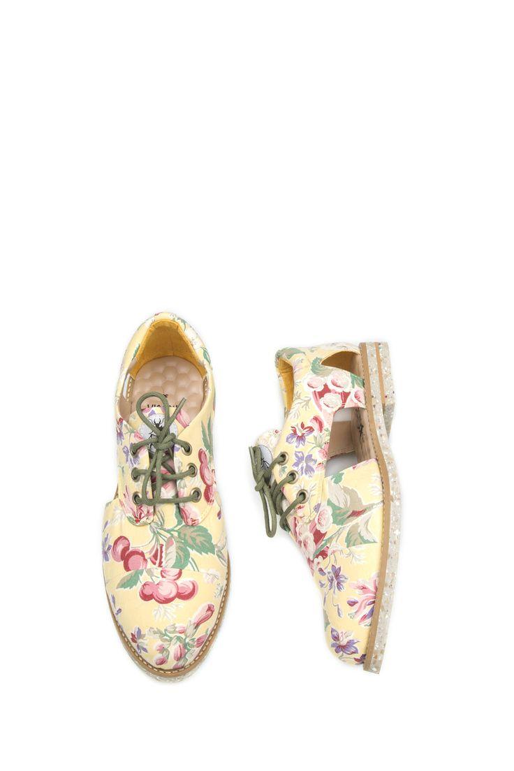 Leza Cutout Oxford by Insecta Shoes // Sapatos veganos e artesanais, feitos a partir da reutilização de roupas vintage. Venda online e frete grátis para todo Brasil.