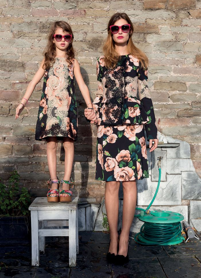 Like mother like daughter! Bianca Balti and daughter Matilde by Martin Parr for Grey S/S 13