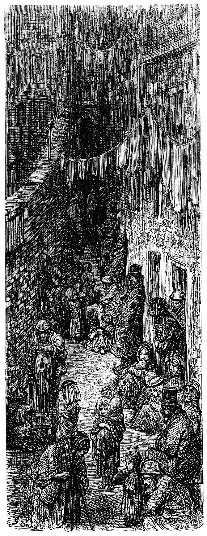 Orange Court, near Drury Lane, London, as depicted by Gustave Dore in 1872