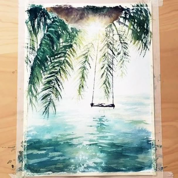 Ich Gehe Gerne Dorthin Watercolor Waterblog Aquarelle