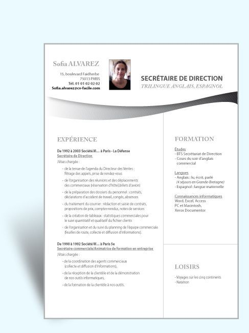 cv assistant de direction new exemple cv assistant de