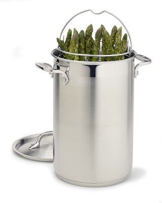 I love the All-Clad Stainless-Steel Asparagus Pot on Williams-Sonoma.com
