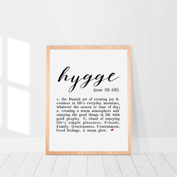 Hygge Print Definition Scandinavian Poster Home Decor Guest Room Scandi Art Entryway Dorm Wall Art Affiche Scandinave Inspirational Quote Walle Arte