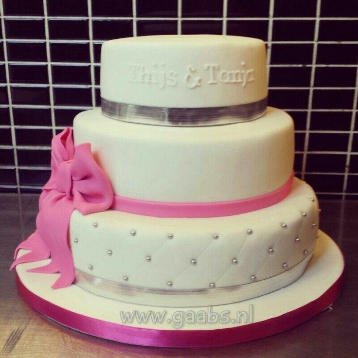 Weddingcake silver/pink