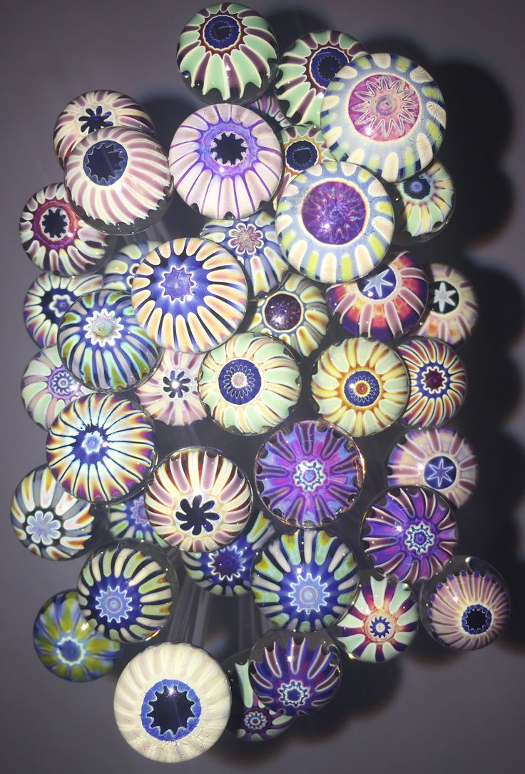 Murrini samples, winter 2016, Double Helix Glassworks ...