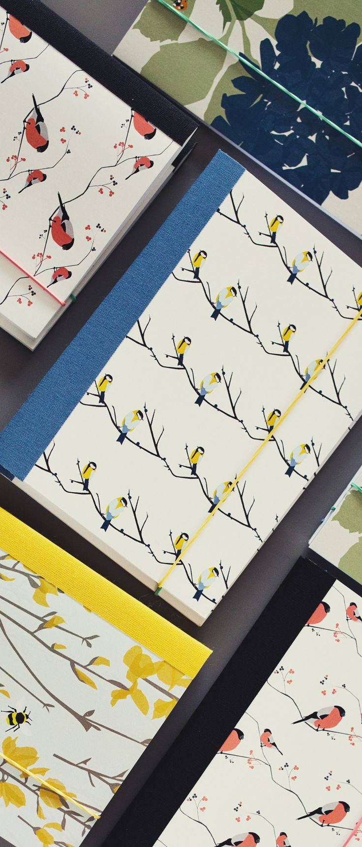 Lorna Syson | Stationery | Notebooks | This handy A6 personalised notebook is a great little gift, the brown paper sleeves can be personalised with your own message or phrase. Great for teacher thank you presents, stocking fillers, secret santa presents and many more perfect gifts. The designs for these notebooks are all taken from Lorna's textile range so are also available as cushions, lampshades, wallpapers and  fabrics.