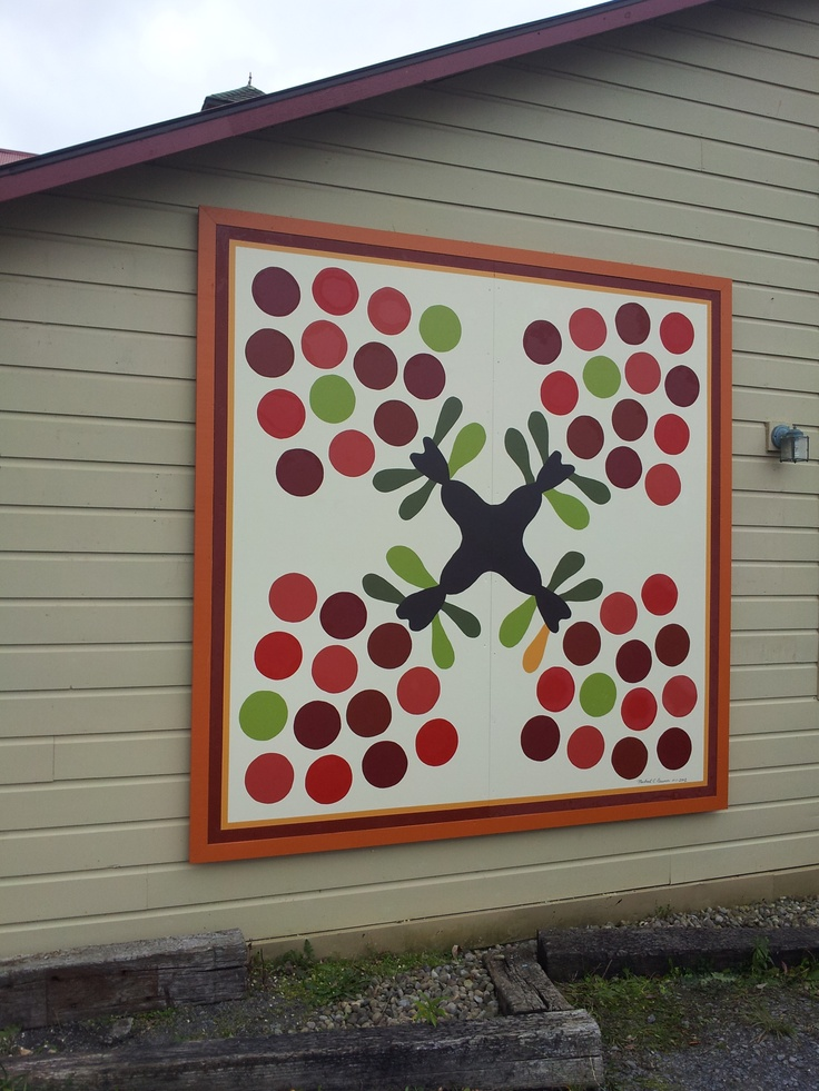 Our beautiful quilt block- Swedish Apple Orchard. We are so proud to be a part of the Schoharie County Quilt Barn Trail and can't wait to put up our next block this spring!