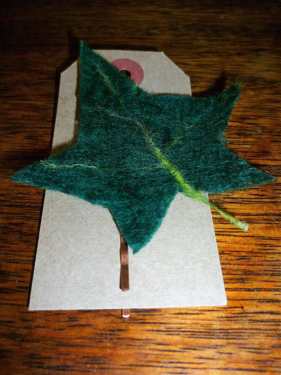 Check out this item in my Etsy shop https://www.etsy.com/uk/listing/525311103/felted-ivy-leaf-hair-pin-clip-bridal
