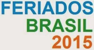 RH DO MORENO: Feriados nacionais - 2015