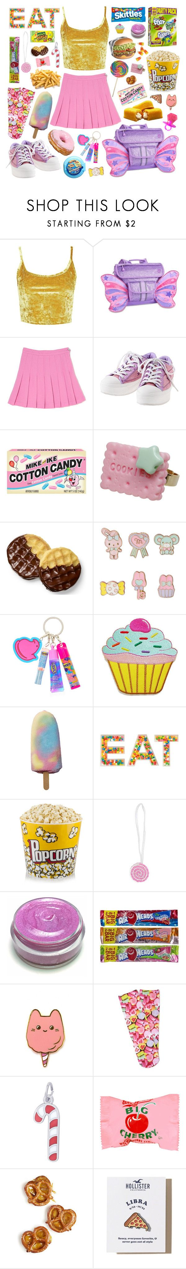 """Junk food cutie pie"" by pastelprincess152 ❤ liked on Polyvore featuring Topshop, claire's, Forever 21, Rembrandt Charms, Junk Food Clothing and Hollister Co."