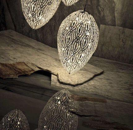 AM6801: Dazzling Modern Alan Mizrahi Egg Shape Clear Crystal Hanging Chandelier Lamp on Etsy, $2,874.99