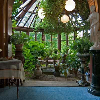 """the conservatory of the mark twain house of hartford connecticut perfectly done.  he says some amazing things about home""""to us, our house had a heart, and a soul, and eyes to see us with...it was of us""""  and """"this house was a home - and the word never ahd so much meaning before."""""""