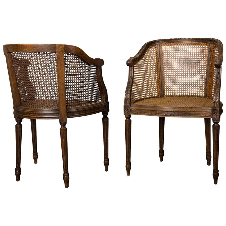 Pair of End of 19th Century Wicker Armchairs in the Louis XVI Style | From a…