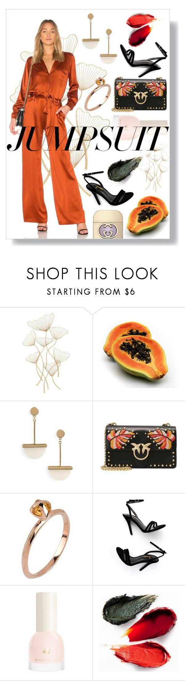 """""""Papaya chic - jumpsuit"""" by mariyushka on Polyvore featuring Topshop, Pinko, Katie Rowland, LULUS, Rituel de Fille, Gucci and jumpsuits"""