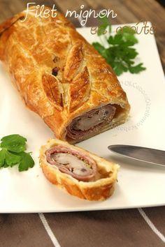 Filet mignon de porc en croûte, jambon cru et moutarde à l'ancienne