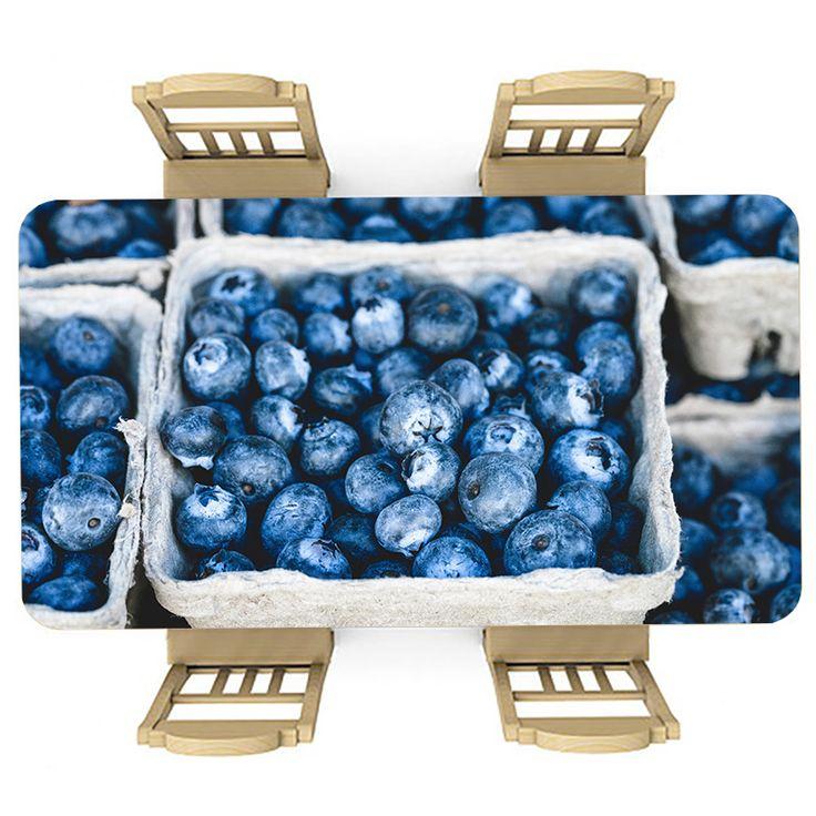 Tafelsticker Blauw fruit | Maak je tafel persoonlijk met een fraaie sticker. De stickers zijn zowel mat als glanzend verkrijgbaar. Geschikt voor binnen EN buiten! #tafel #sticker #tafelsticker #uniek #persoonlijk #interieur #huisdecoratie #diy #persoonlijk #fruit #blauw #gezond #vrucht #lekker #voedsel #eten #keuken