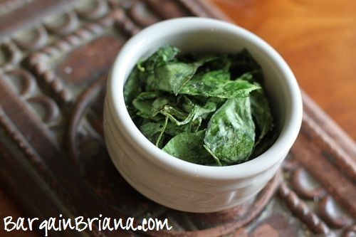 Tweet These baked spinach chips are a nice tasty, healthy crunch that are easy to customize to your preference. To keep it simple, my first batch was just seasoned with salt and pepper. If you have leftover spinach from a …