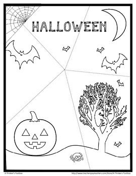 Halloween Puzzle FREEBIE by A Thinker's Toolbox #fun #centers