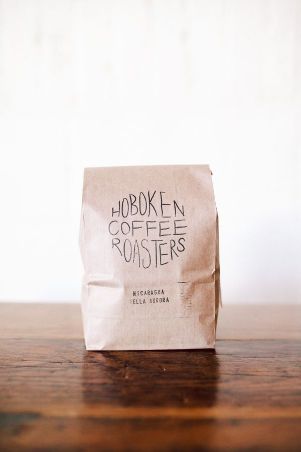 Hoboken Coffee Packaging | Stamped- This reminds me of the one in French.. Like the way this is simply done. Like the way the writing is done