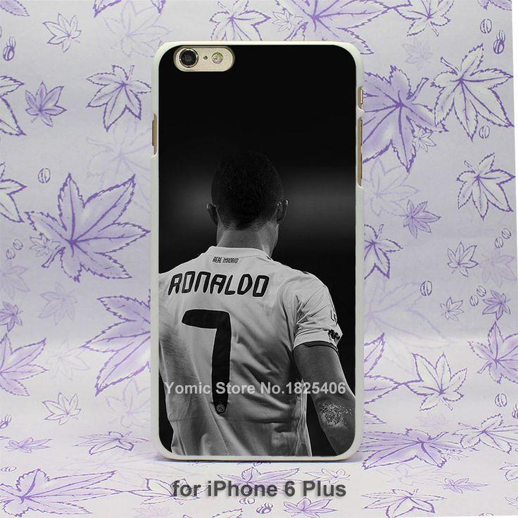 Cristiano Ronaldo CR 7 Soccer Dark Design hard White Skin Case Cover for iPhone 4 4s 4g 5 5s 5c 6 6s 6 Plus