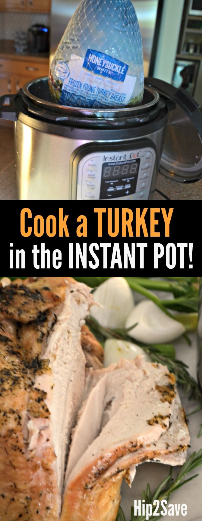 Here's how to cook a deliciously tender turkey using your Instant Pot pressure cooker in under an hour!