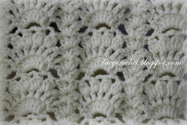 The stitch for this baby afghan looks fancy and intricate ...