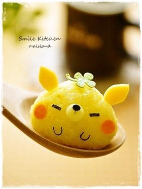 Paper Fox & Toad Picnic: Fox rice ball