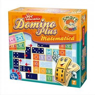 """Să învățăm matematica într-un mod alternativ! Jocul educativ """"Domino Matematică"""" este potrivit pentru copii cu vârsta de peste 4 ani. #domino #boardgame #jocurieducative #jucariionline #educational"""