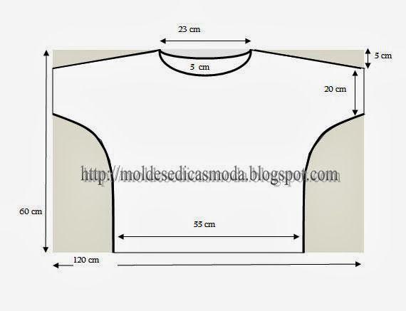 Moldes Moda por Medida: CAMISOLA DESCONTRAIDA | medium length sleeve on a simple top