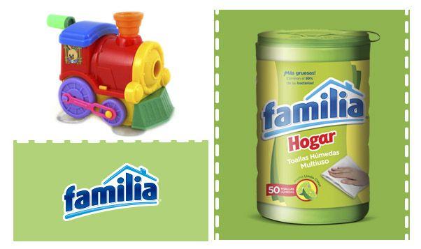 Usa las Toallas Húmedas Desinfectantes Familia® Hogar para limpiar los juguetes de tus hijos.